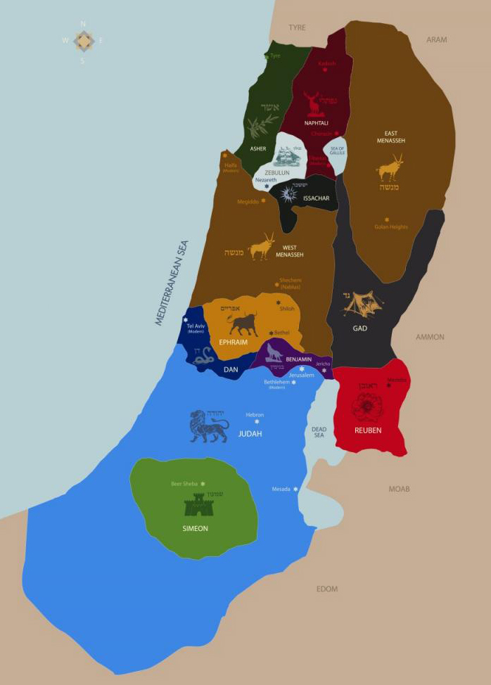 map_israel